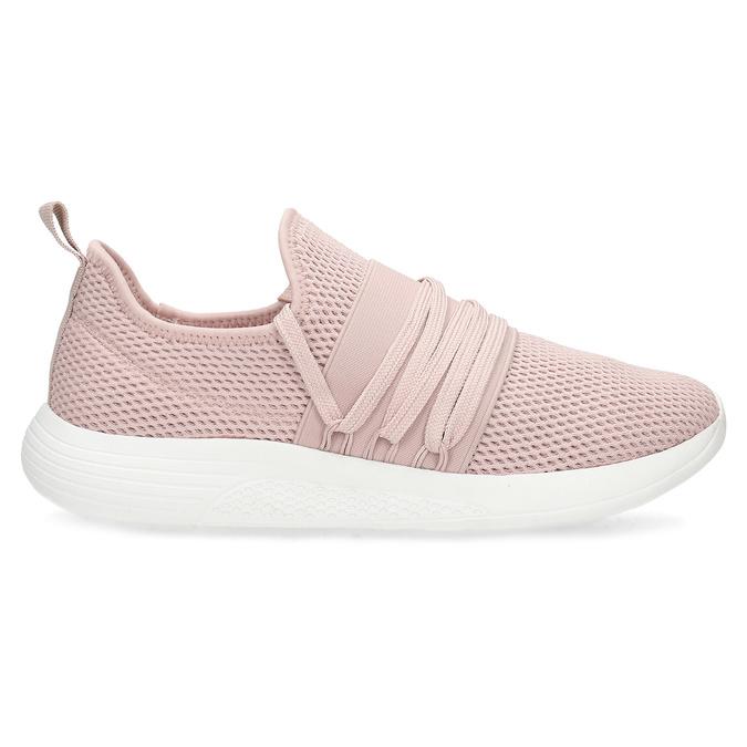 Růžové dámské tenisky na bílé podešvi bata-red-label, růžová, 519-5607 - 19