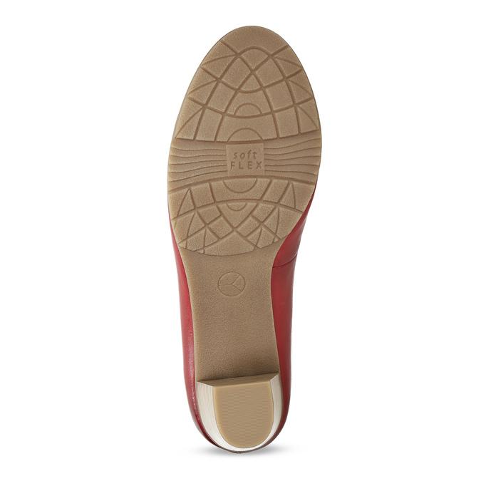Červené kožené lodičky na stabilním podpatku bata, červená, 624-5649 - 18