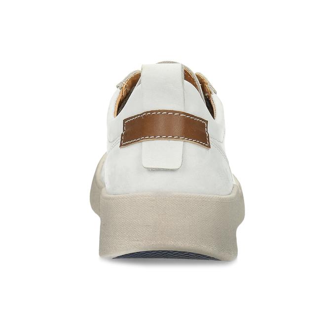 Bílé kožené dámské tenisky weinbrenner, bílá, 546-1622 - 15