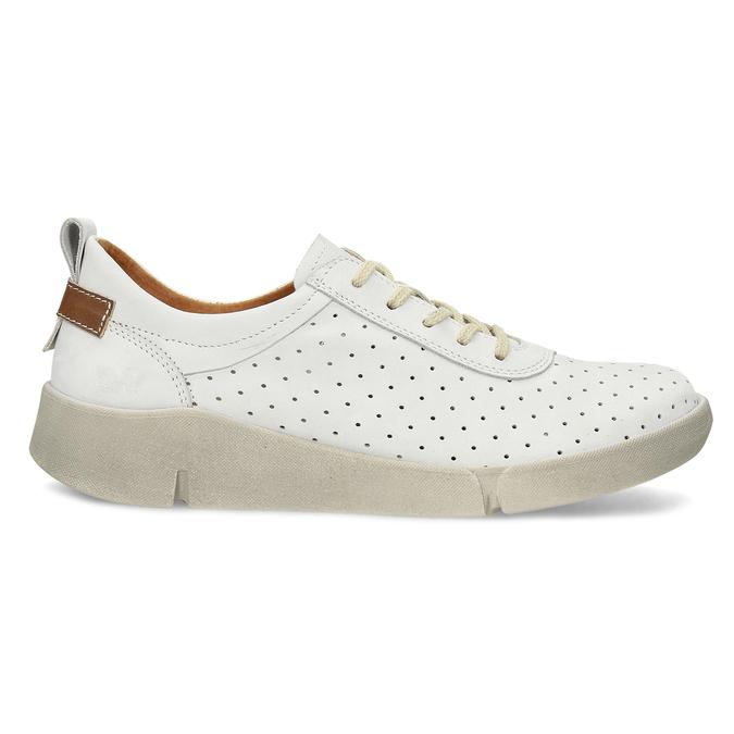 Bílé kožené dámské tenisky weinbrenner, bílá, 546-1622 - 19