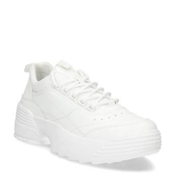 Bílé dámské tenisky na flatformě bata, bílá, 541-1608 - 13