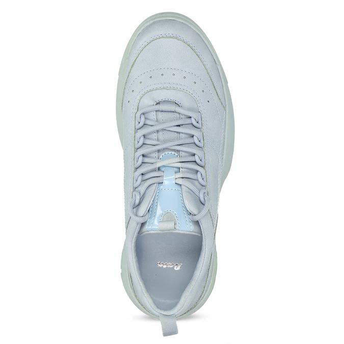 Dámské modré tenisky na flatformě bata, modrá, 541-9608 - 17
