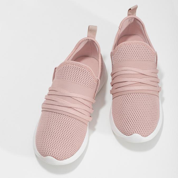 Růžové dámské tenisky na bílé podešvi bata-red-label, růžová, 519-5607 - 16