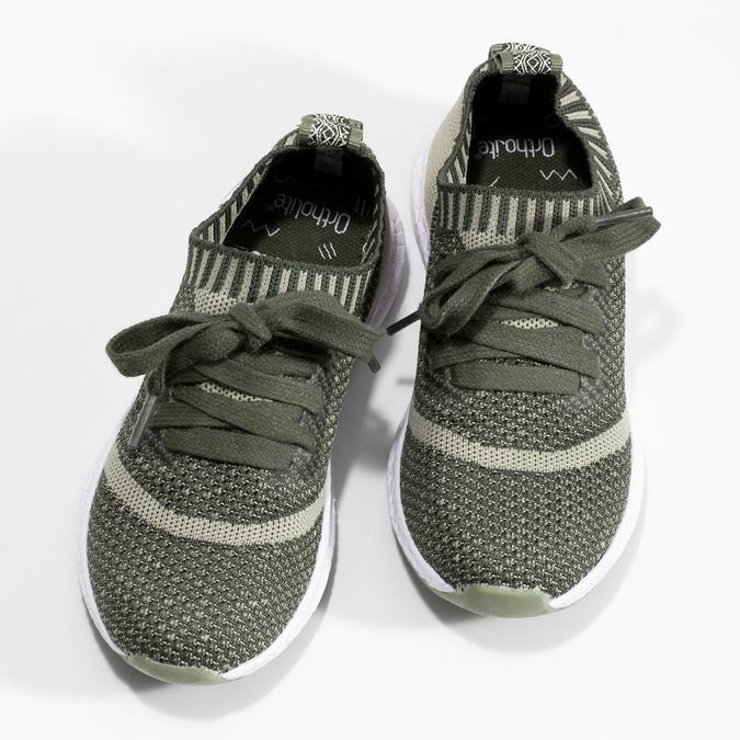 Khaki dětské tenisky v pleteném designu bubblegummers, khaki, 319-3650 - 16