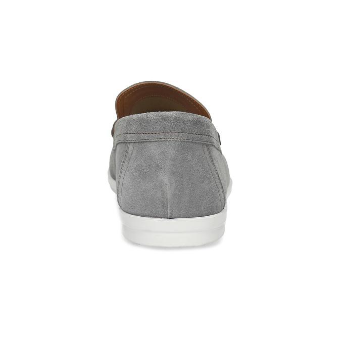 Šedé pánské ležérní mokasíny z broušené kůže flexible, šedá, 853-2619 - 15