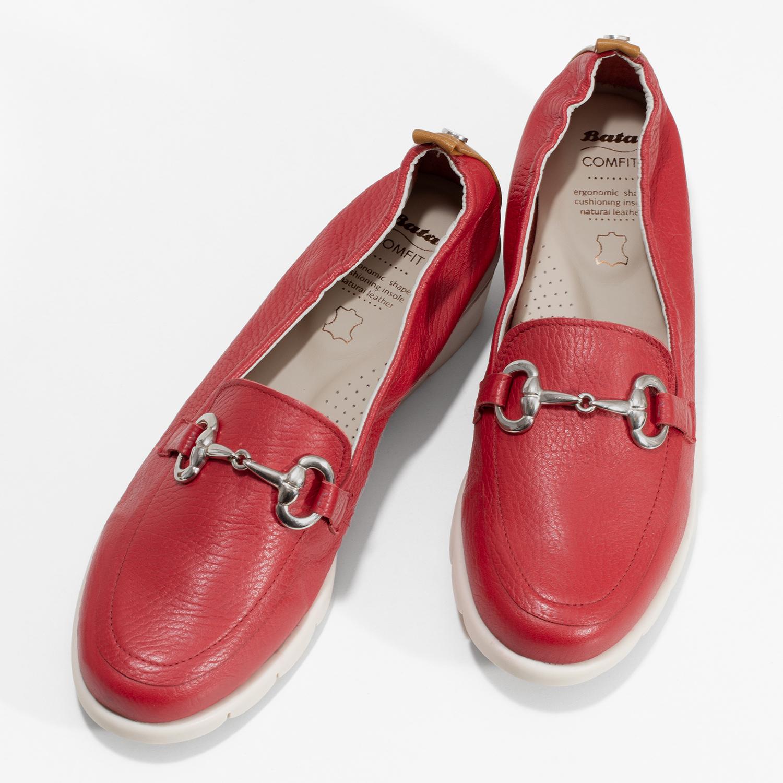Comfit Dámské kožené mokasíny červené - Ženy  781ecde8972