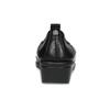 Kožené černé lodičky s výraznou podešví comfit, černá, 624-6618 - 15