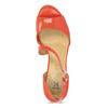 Korálové dámské sandály s asymetrickým páskem insolia, červená, 761-5600 - 17