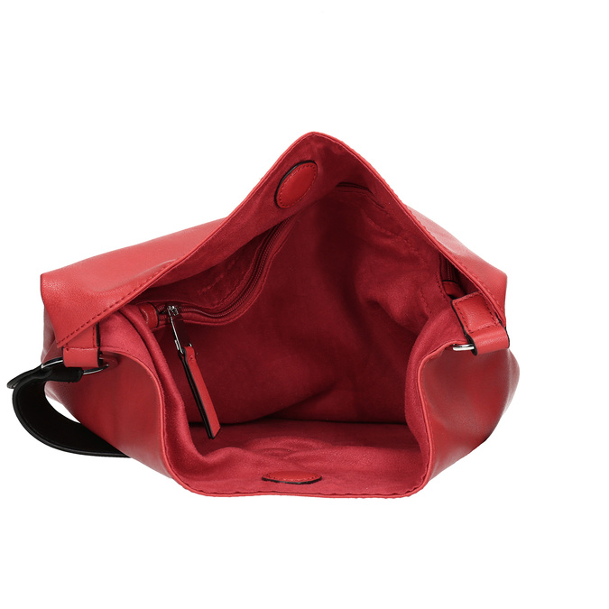 Červená Hobo kabelka s černými detaily bata, červená, 961-5935 - 15