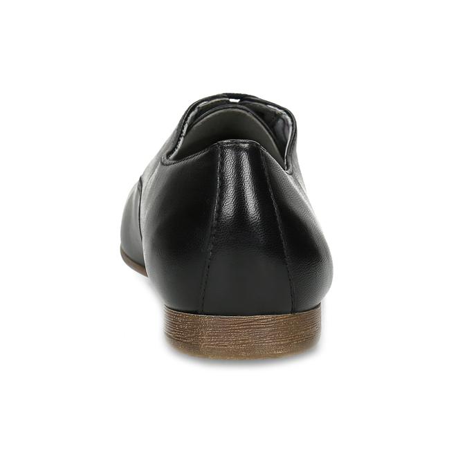 Černé kožené dámské polobotky bata, černá, 544-6603 - 15