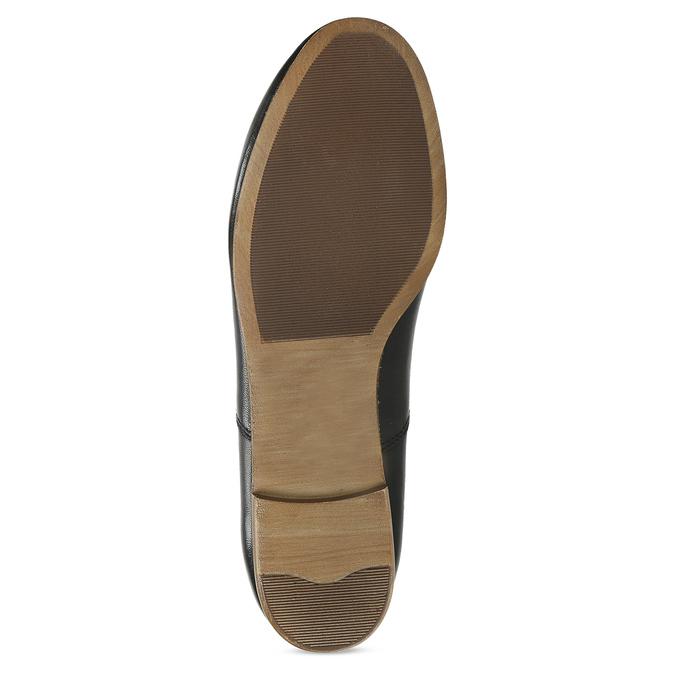 Černé kožené dámské polobotky bata, černá, 544-6603 - 18