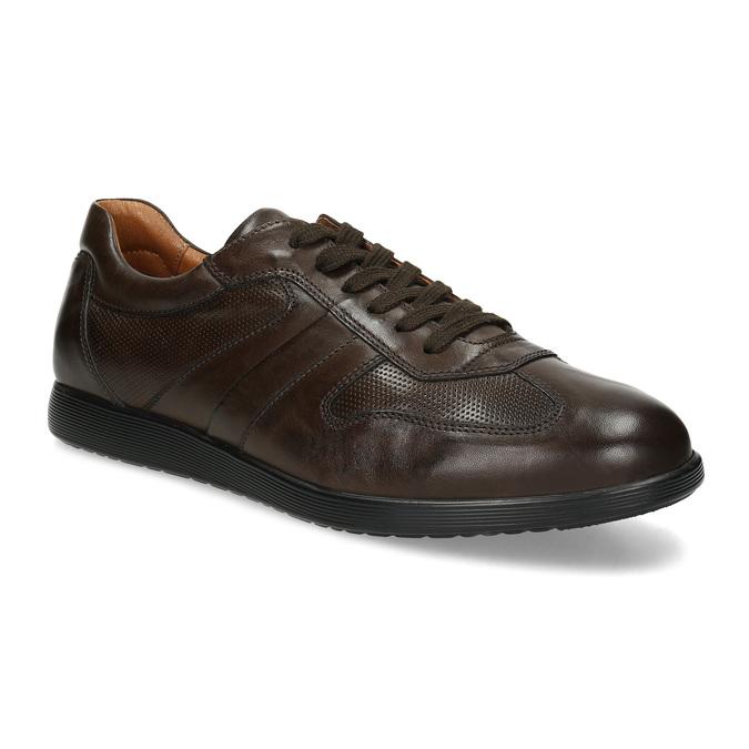 Kožené hnědé pánské tenisky bata, hnědá, 826-4686 - 13