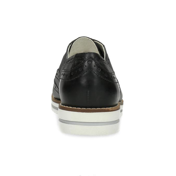 Dámské kožené Oxford polobotky černé bata, černá, 546-6620 - 15