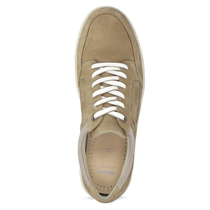 Béžové kožené pánské tenisky bata, hnědá, 846-8600 - 17