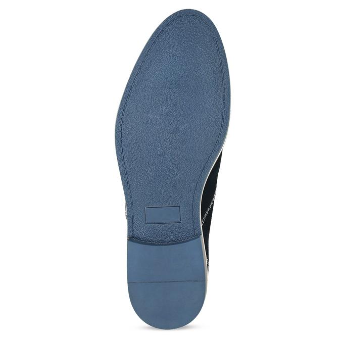 Kožené tmavě modré pánské polobotky bata, modrá, 823-9634 - 18