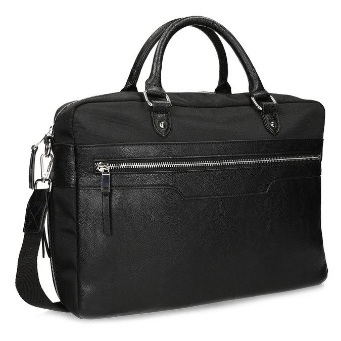 Pánská černá taška s popruhem bata, černá, 969-6950 - 13