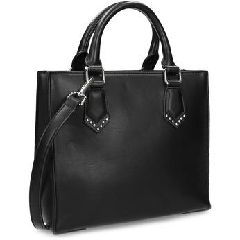 Černá dámská kabelka s popruhem bata, černá, 961-6951 - 13