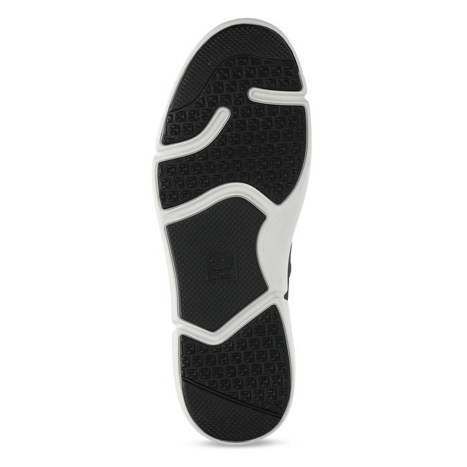 Pánské šedé kožené tenisky s perforací bata-light, šedá, 846-2722 - 18