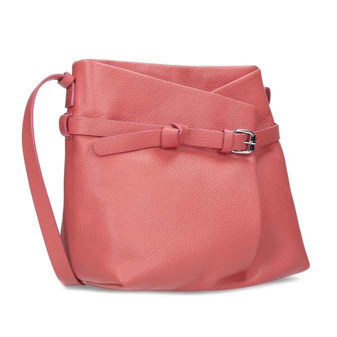 e3cfe0ea99 Bata Růžová kožená kabelka - Kožené kabelky