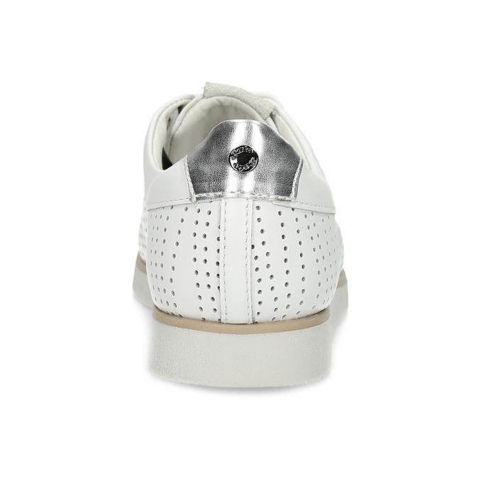 Bílé kožené dámské tenisky s perforací flexible, bílá, 524-1606 - 15