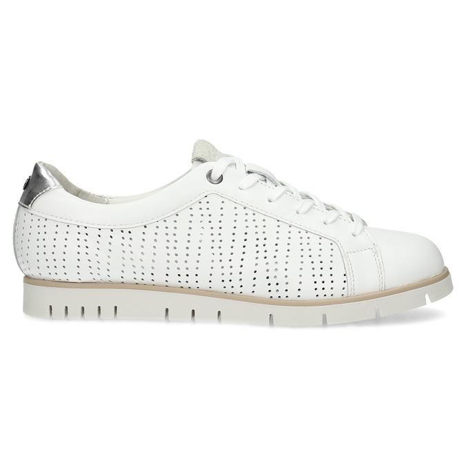 Bílé kožené dámské tenisky s perforací flexible, bílá, 524-1606 - 19