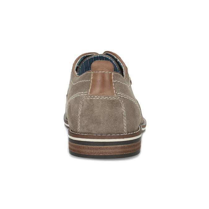 Pánské ležérní polobotky z broušené kůže bata, béžová, 823-2634 - 15