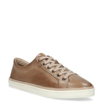 Dámské hnědé kožené tenisky bata, hnědá, 544-3601 - 13