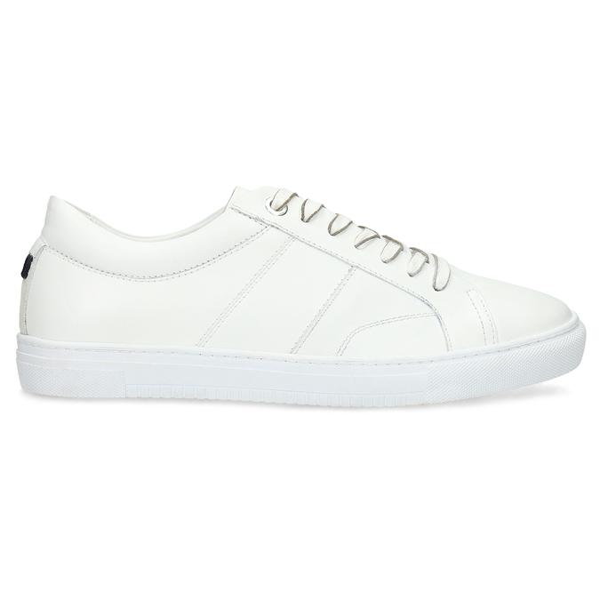 Bílé kožené pánské tenisky bata, bílá, 844-1649 - 19