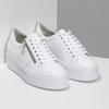 Bílé tenisky na flatformě se zipem bata, bílá, 544-1602 - 26