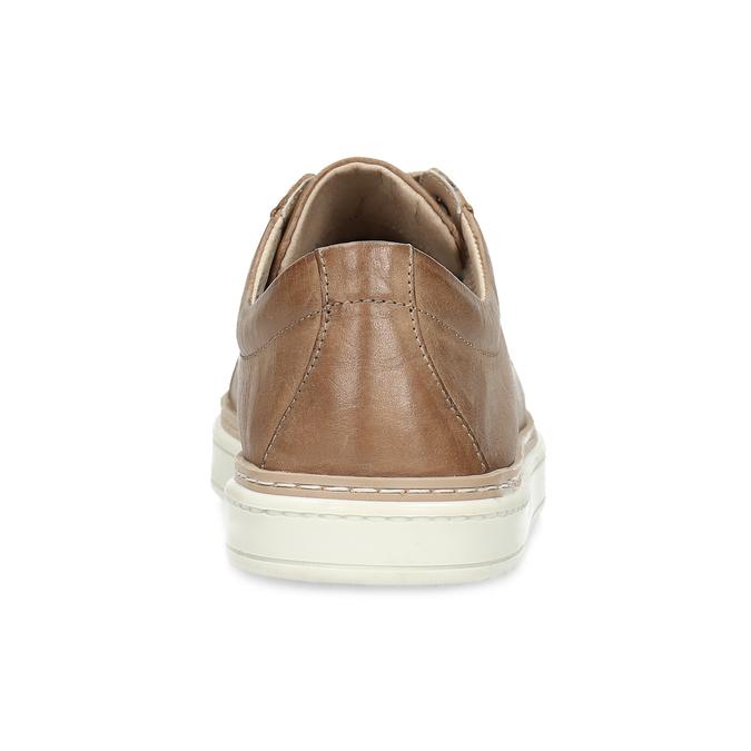 Dámské hnědé kožené tenisky bata, hnědá, 544-3601 - 15