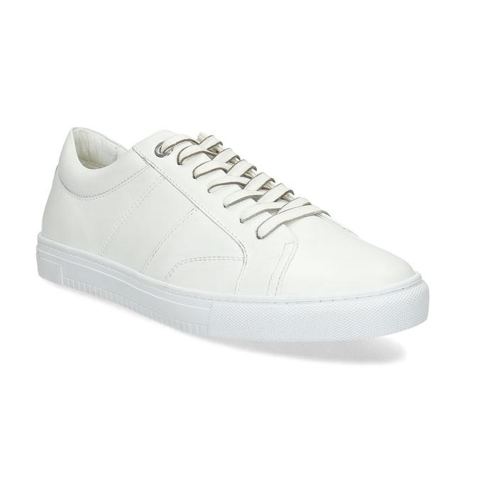 Bílé kožené pánské tenisky bata, bílá, 844-1649 - 13