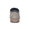 Šedé kožené polobotky s brougue zdobením bata, šedá, 823-2654 - 15
