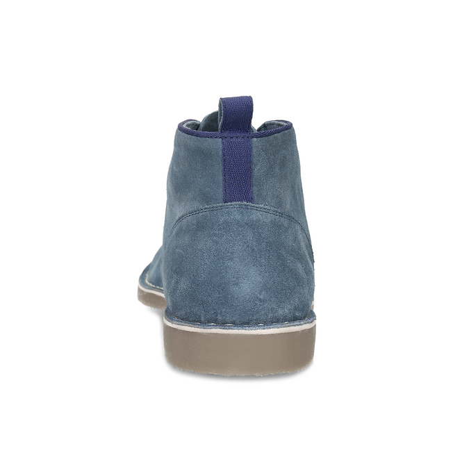 Pánské kožené Desert Boots modré bata, modrá, 823-9655 - 15