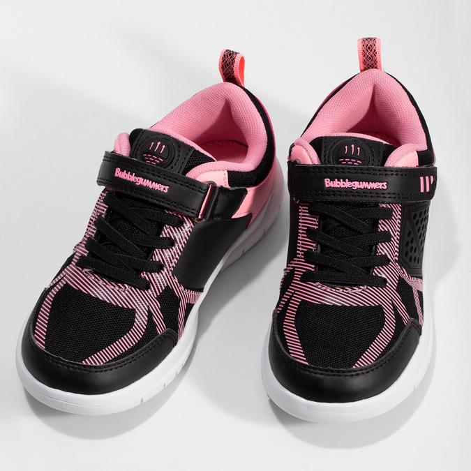Dívčí černo-růžové tenisky bubble-breathe, černá, 321-6172 - 16