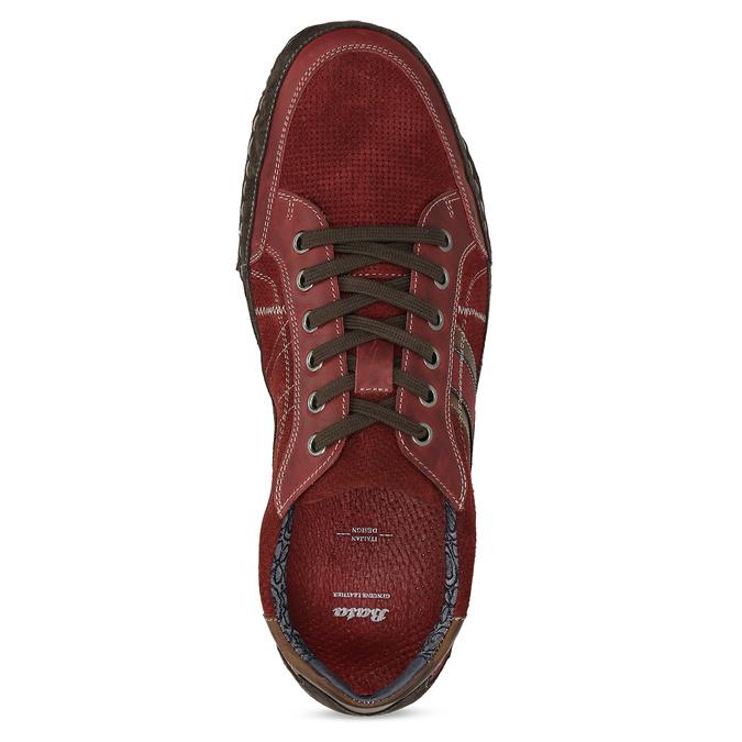 Červené pánské ležérní tenisky s prošíváním bata, červená, 846-0730 - 17