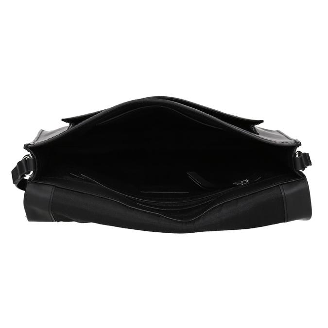 Kožená černá kabelka přes rameno bata, černá, 964-6710 - 15