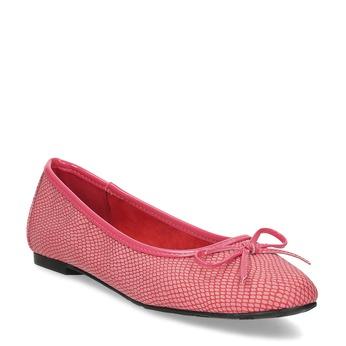 Červeno-růžové dámské baleríny bata, růžová, 521-5651 - 13