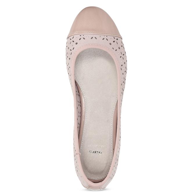 Růžové baleríny s kamínky bata, růžová, 529-8648 - 17