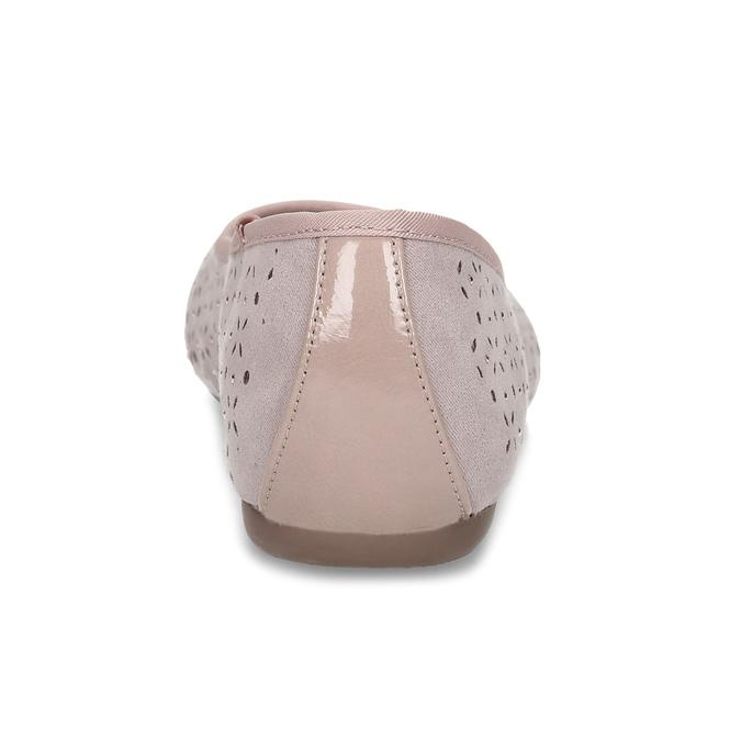 Růžové baleríny s kamínky bata, růžová, 529-8648 - 15