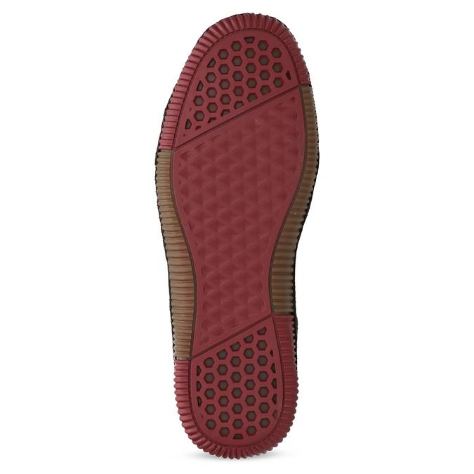Červené pánské ležérní tenisky s prošíváním bata, červená, 846-0730 - 18