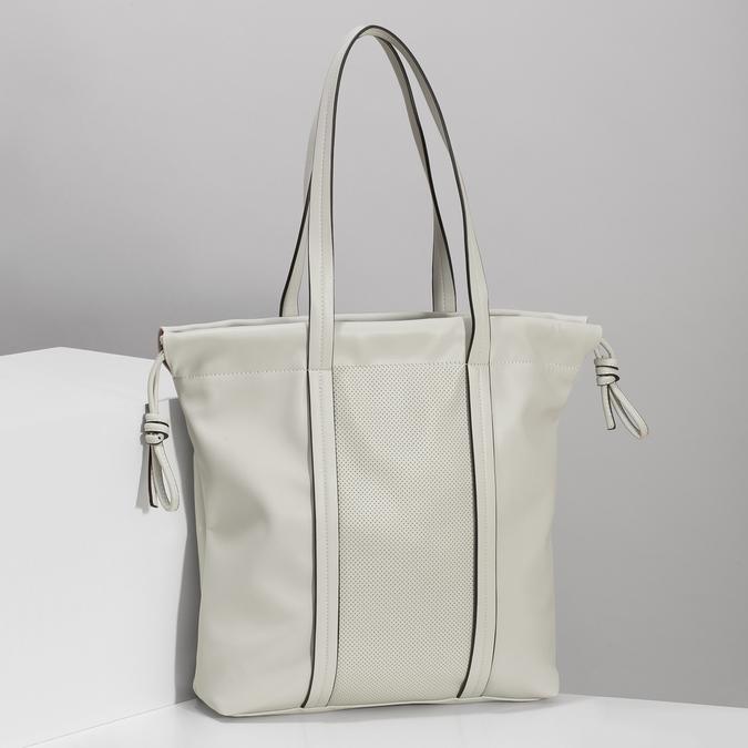 Béžová dámská kabelka s jemnou perforací bata, béžová, 961-8933 - 17