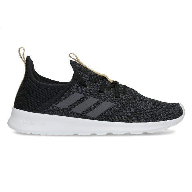 Černé dámské tenisky s hnědým detailem adidas, černá, 509-6469 - 19