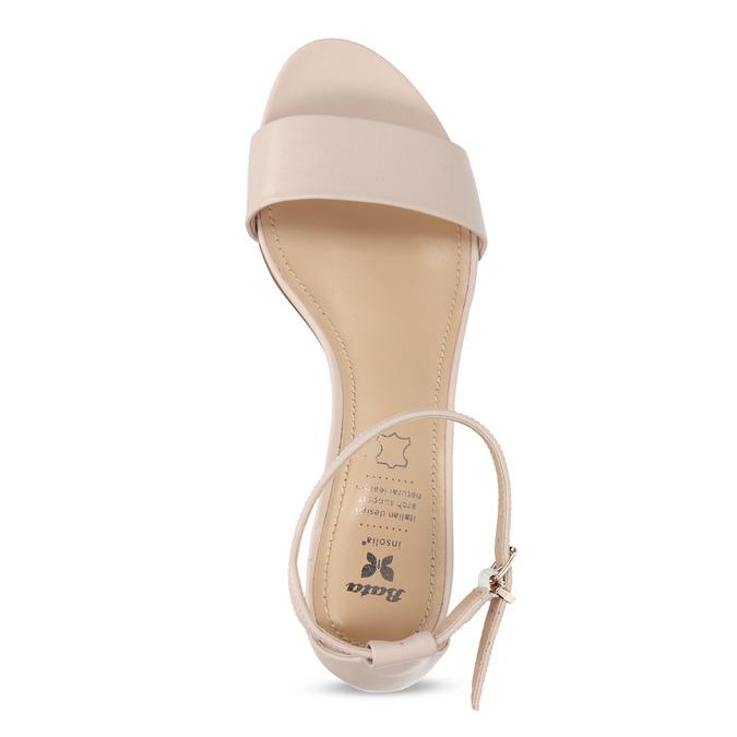 Tělové dámské sandály na nízkém podpatku insolia, růžová, 661-8620 - 17