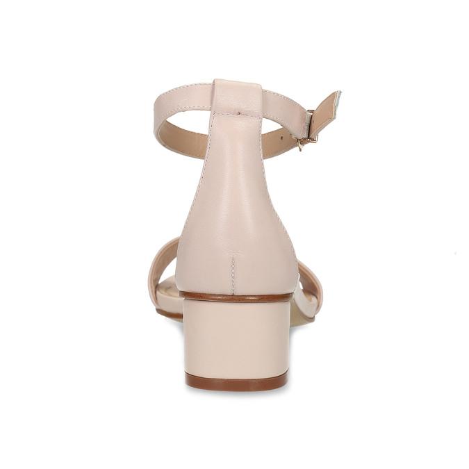 Tělové dámské sandály na nízkém podpatku insolia, růžová, 661-8620 - 15