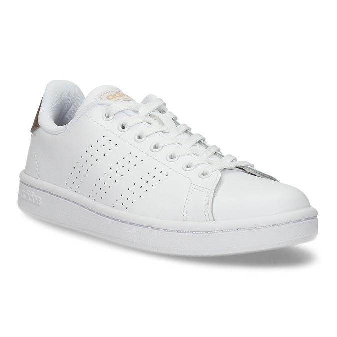 Dámské bílé tenisky s perforací adidas, bílá, 501-1854 - 13