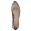 Šedé baleríny na klínku kožené bata, hnědá, 626-2653 - 17