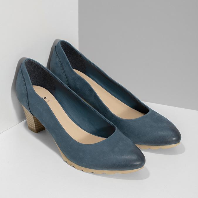Tmavě modré dámské lodičky bata, modrá, 626-9652 - 26
