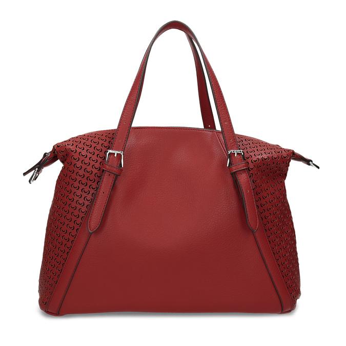 Červená dámská kabelka s perforací bata, červená, 961-5888 - 26