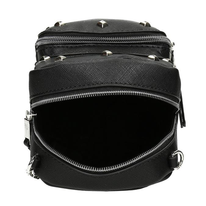 Černá Crossbody kabelka s řetízkem a se cvoky bata, černá, 961-6965 - 15