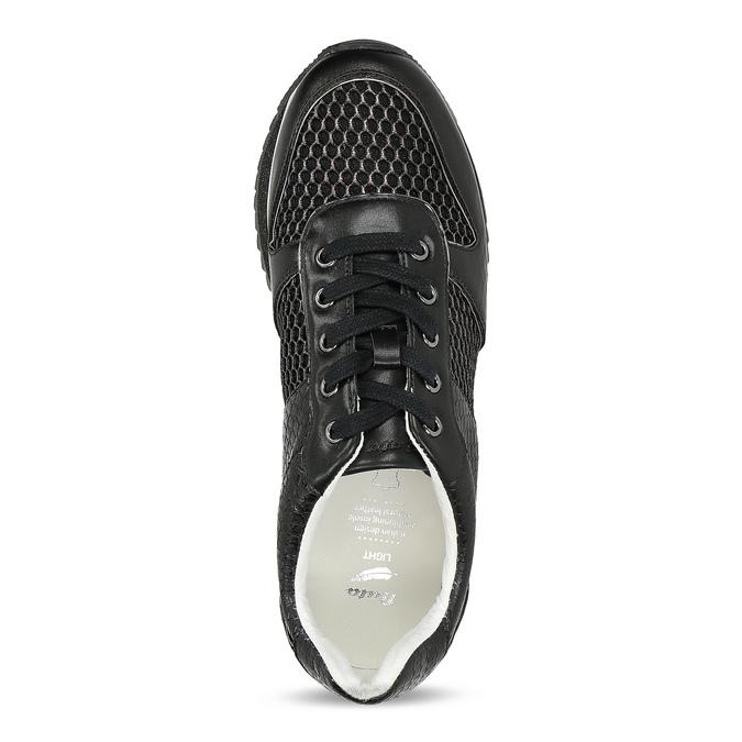 Černé dámské tenisky s výraznou podešví bata-light, černá, 521-6647 - 17